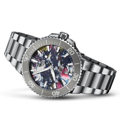 Oris 豪利時 Aquis Upcycle 潔淨海洋 環保日期腕錶 0173377664150-Set