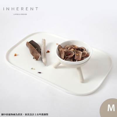 韓國Inherent Oreo 寵物低腳碗 寵物碗 寵物碗架 狗碗 M 純淨白