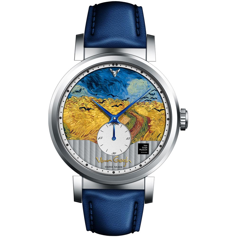 梵谷Van Gogh Swiss Watch小秒盤梵谷經典名畫男錶(C-SLMW-27)