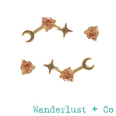 Wanderlust+Co 生日石系列- 十一月耳環