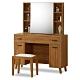 時尚屋  柏得溫柚木3.3尺鏡台-含椅子寬100x深40x高142.7cm product thumbnail 1