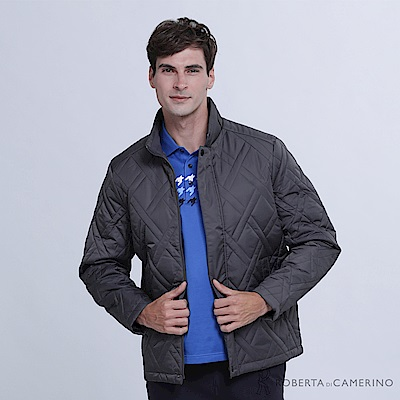 ROBERTA諾貝達 時尚型男 內裡舖棉夾克外套 深灰