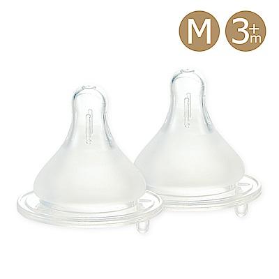 奇哥 親乳實感防脹氣奶嘴 2 入-寬口徑 3 m+
