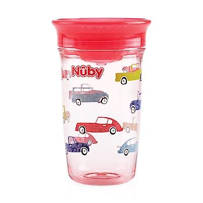 Nuby 晶透360度喝水杯300ml_紅汽車(12M+)