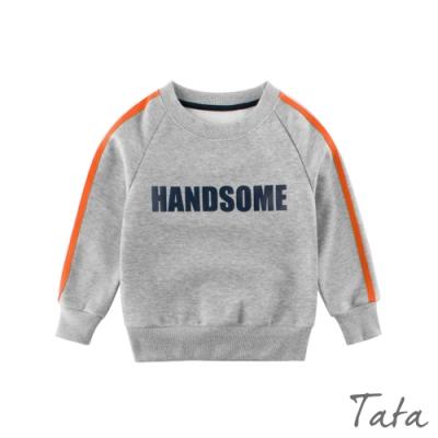 童裝 HANDSOME字母撞色袖上衣 TATA KIDS