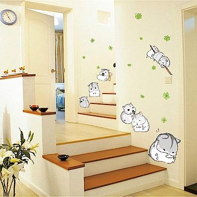 半島良品 DIY無痕壁貼-可愛小倉鼠 MJ7014 50x70cm