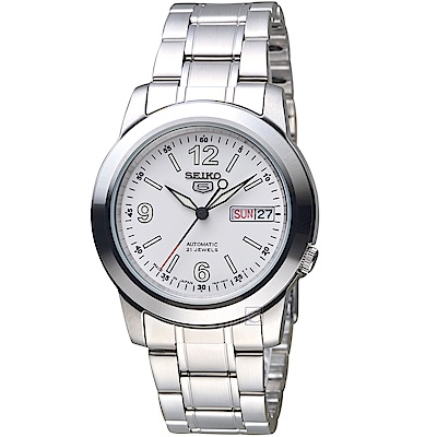 SEIKO精工5號21石盾牌機械腕錶(SNKE57J1)