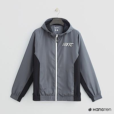 Hang Ten - 男裝 - 拼接色塊拉鍊連帽外套 - 灰