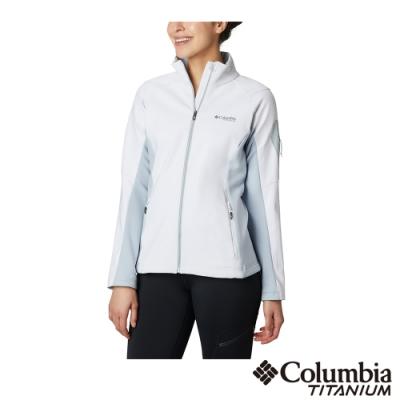 Columbia 哥倫比亞 女款- Omni-Shield 防潑鋁點保暖外套-白色