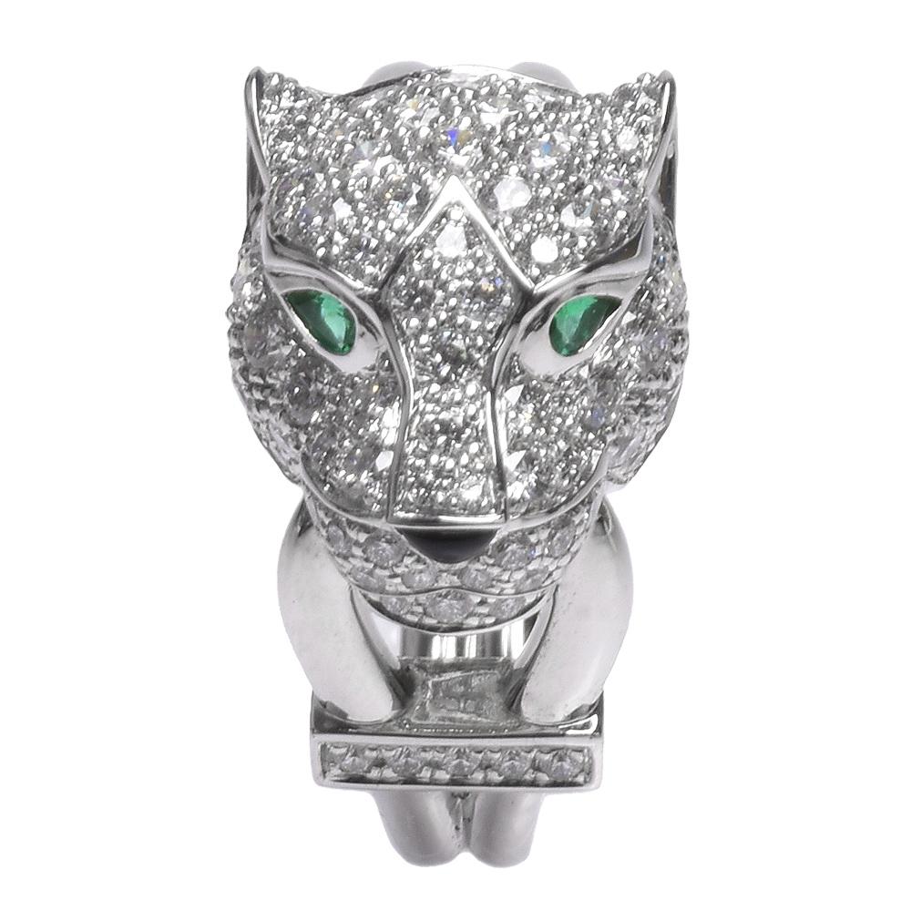 Cartier 卡地亞PANTHERE DE CARTIER系列美洲豹造型鑽石戒指