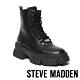 STEVE MADDEN-TANKER ROCK BOTTON 經典綁帶字母厚底中筒靴-黑色 product thumbnail 1