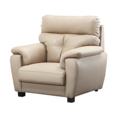綠活居 印第安那   現代米色透氣皮革單人座沙發椅-104x93x104cm免組