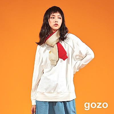 gozo 立體曲線包繩素面寬版上衣(二色)