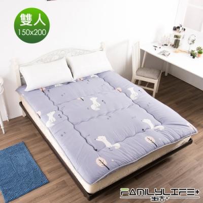 【FL生活+】日式加厚8cm雙人床墊(150*200cm)-雪白小狐(FL-109-P)
