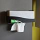 OSHI歐士 Box Plus+面紙盒 衛生紙盒 銀黑款-大-2入   需自行組裝 下抽式衛生紙架 product thumbnail 2