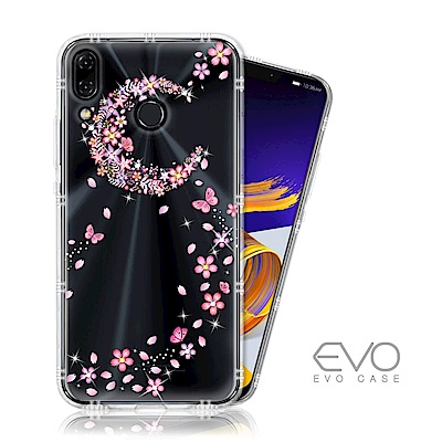 EVO CASE ASUS ZenFone5 2018/5z 奧地利水鑽彩繪防摔殼-櫻月