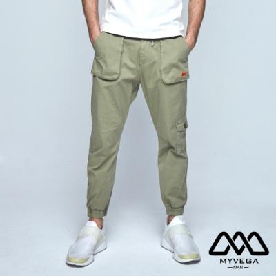 MYVEGA MAN超多立體口袋縮口工裝褲-綠