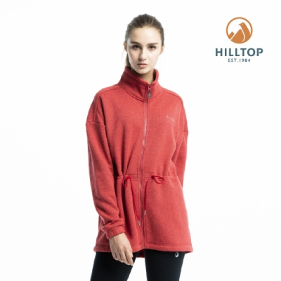 【hilltop山頂鳥】女款ZISOFIT保暖吸濕快乾刷毛外套H22FV6紅