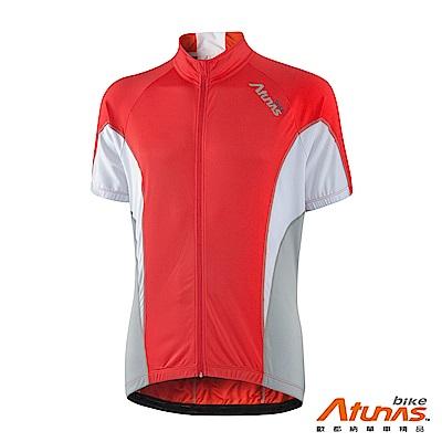《Atunas Bike》歐都納 單車 B13027M 風潮短袖車衣 紅/白