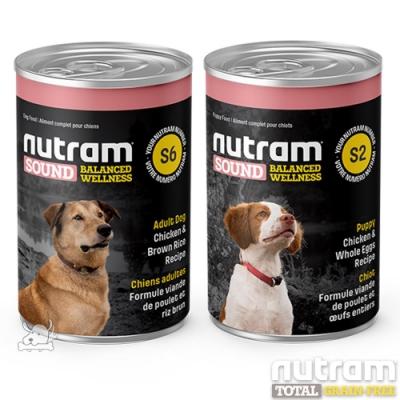 NUTRAM 紐頓 犬系列 主食湯罐 369g 6罐