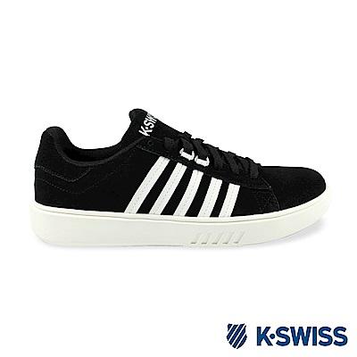 K-Swiss Pershing Court Sde CMF休閒運動鞋-男-黑/白
