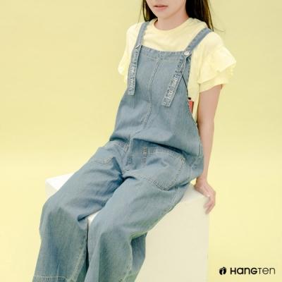Hang Ten- 青少童裝-夏日清涼短袖T恤-黃