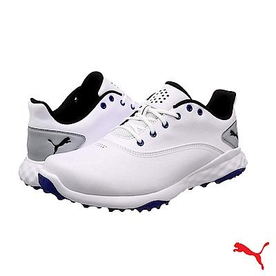 PUMA GOLF 男高爾夫球鞋 白/藍  189425   01
