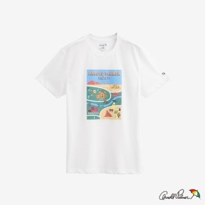 Arnold Palmer-男裝-地圖LOGOT恤-白