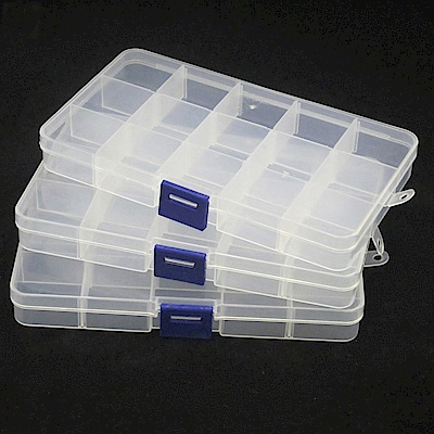 月陽15格可拆分雜物收納盒萬用盒藥盒超值3入(PP153)