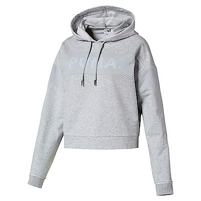 PUMA-女性流行系列Chase長厚連帽T恤-淺麻花灰-亞規