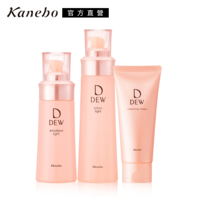 Kanebo 佳麗寶 DEW水潤柔膚露+乳+潔膚霜 精選超值組(2款任選)