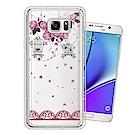 Samsung Galaxy Note5 奧地利水晶彩繪空壓手機殼(璀璨蕾絲)