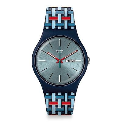 Swatch WOVERING 編織趣味手錶