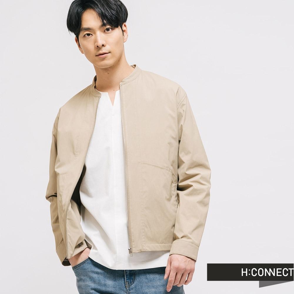H:CONNECT 韓國品牌 男裝 -俐落質感夾克外套-卡其
