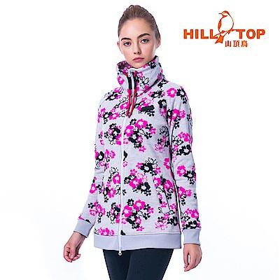 【hilltop山頂鳥】女款吸濕ZISOFIT保暖刷毛外套H22FU2桃紅