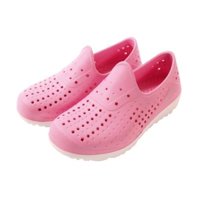 中大女童鞋 超輕量休閒晴雨洞洞鞋sd7224 魔法Baby