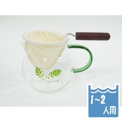 寶馬牌法蘭絨手柄咖啡濾網1~2人×4入