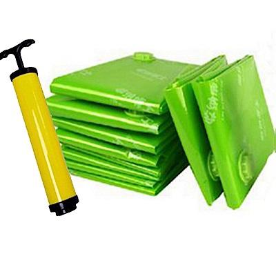 BC009市場最厚產品真空收納袋11件組送抽氣泵 綠色0.12mm真空壓縮袋收納袋