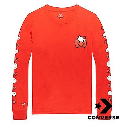 CONVERSE Hello Kitty 女 長袖T恤 紅色