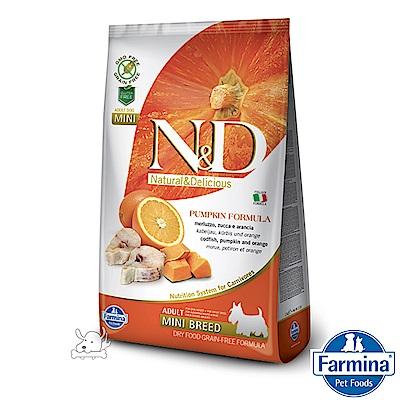 Farmina法米納 ND挑嘴成犬南瓜無穀糧-鱈魚甜橙-小顆粒(PD-04)7kg