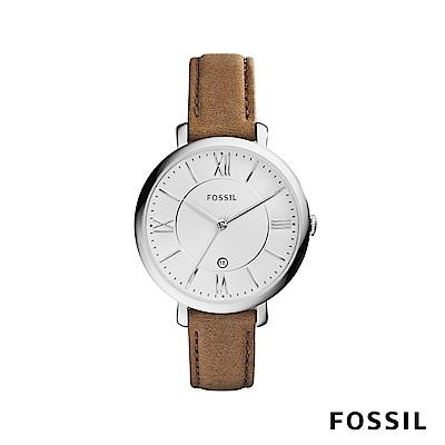 FOSSIL JACQUELINE 真皮女錶-焦糖色 約36mm ES3708