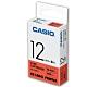 CASIO 標籤機專用色帶-12mm【共有9色】紅底黑字-XR-12RD1 product thumbnail 1