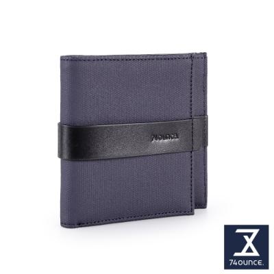 74盎司 Mix 配皮零錢短夾[N-581-MI-M]藍