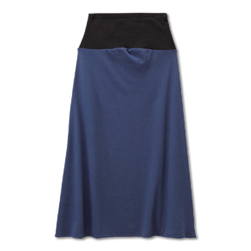 日本雜誌款-日製 棉質休閒孕婦長裙(深藍/條紋深藍/條紋碳灰) product image 1