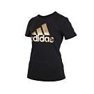 ADIDAS 女短袖T恤-短T 路跑 慢跑 愛迪達 黑金