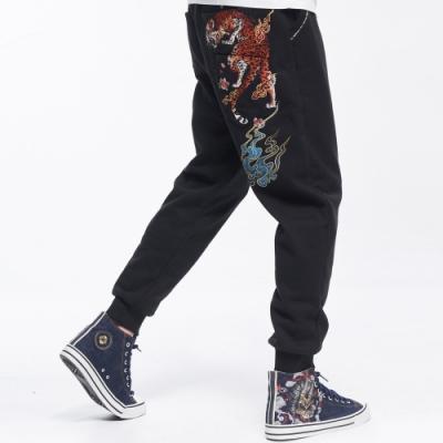 日本藍  BLUE WAY  - 日本藍花豹多袋針織長褲