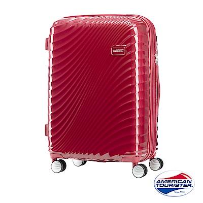 AT美國旅行者 24吋Erie流線硬殼飛機輪可擴充TSA行李箱(紅)