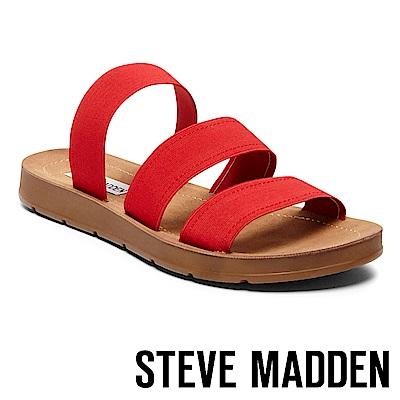STEVE MADDEN-PASCALE 涼夏束帶平底涼鞋-紅色