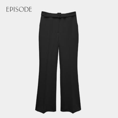 EPISODE - 優雅知性顯腿長舒適百搭直筒長褲(黑)