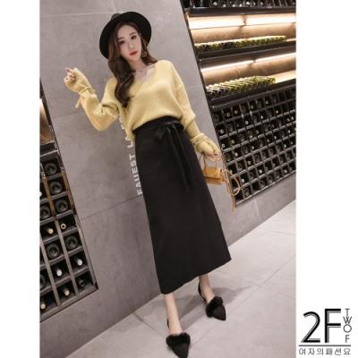 2F韓衣-韓系保暖加厚氣質長裙-3色-F
